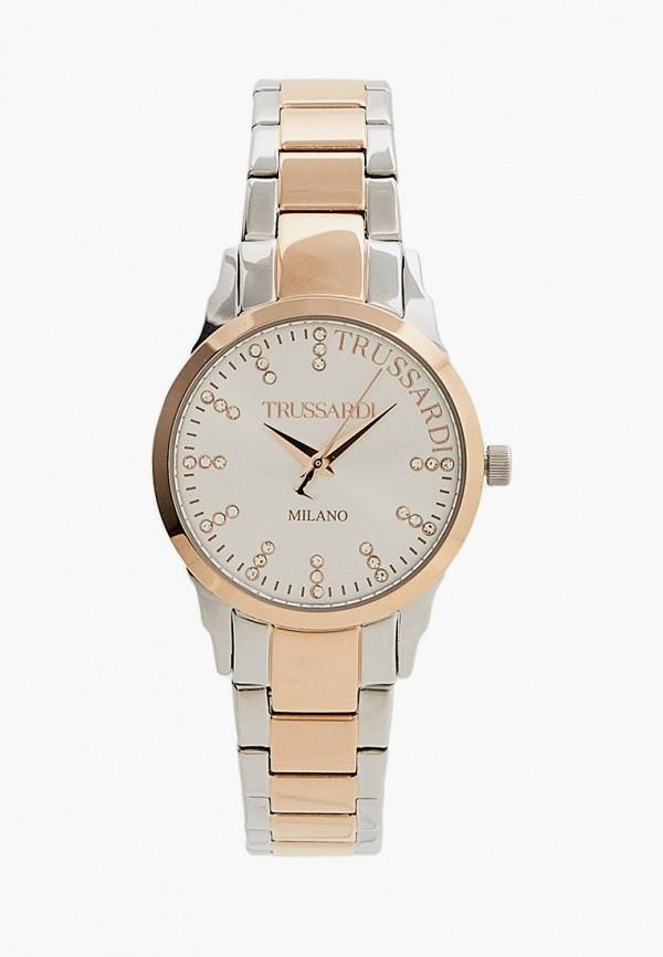 женские часы trussardi, серебряные