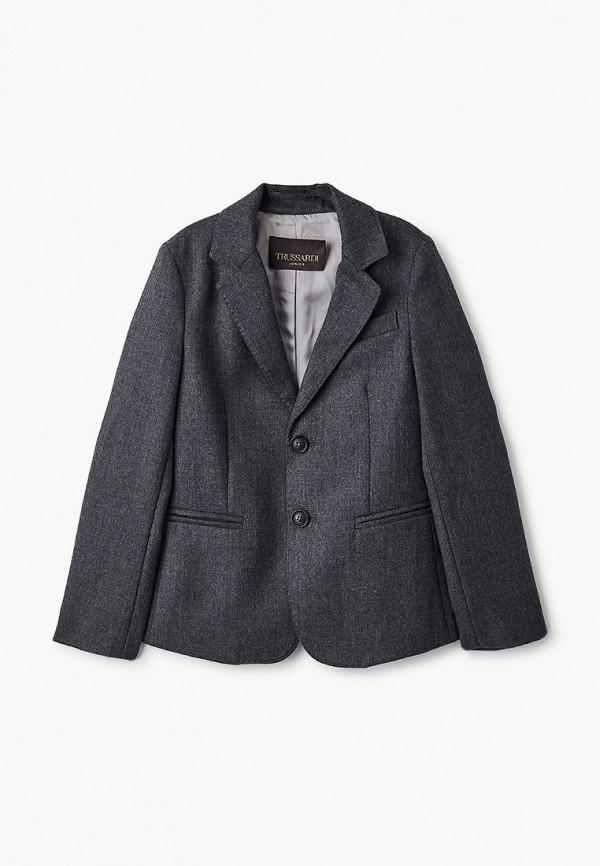 пиджак trussardi для мальчика, серый