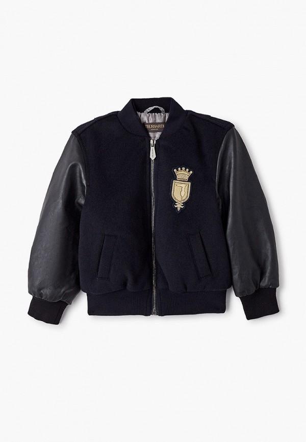 куртка trussardi для мальчика, черная