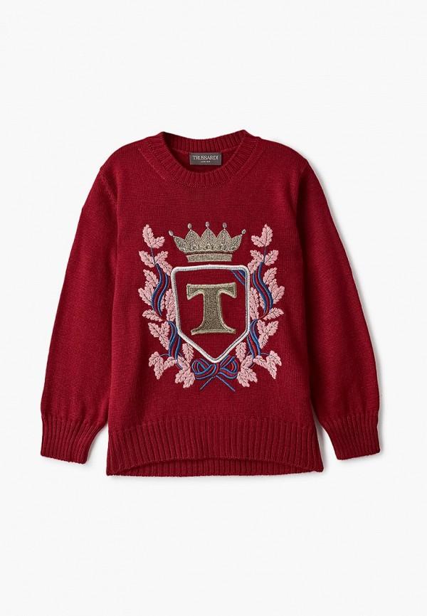 джемпер trussardi для девочки, бордовый