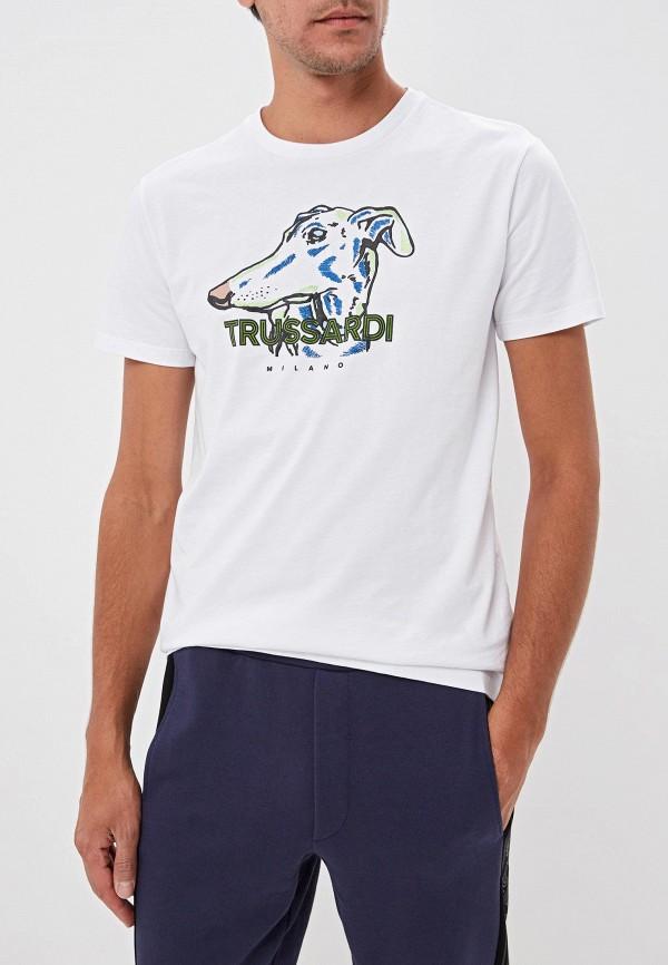 Фото - мужскую футболку Trussardi белого цвета