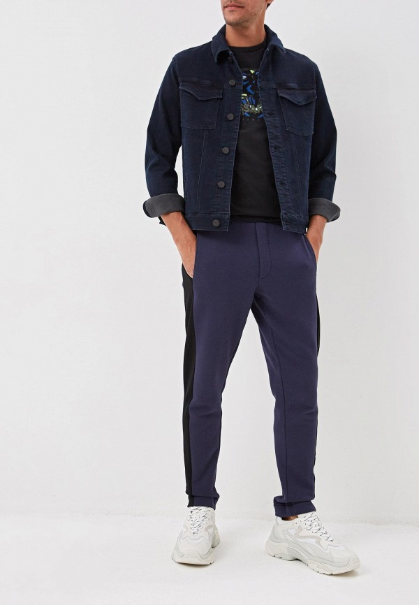Фото 2 - мужскую футболку Trussardi черного цвета