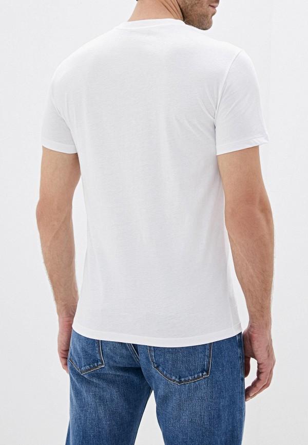 Фото 3 - мужскую футболку Trussardi белого цвета