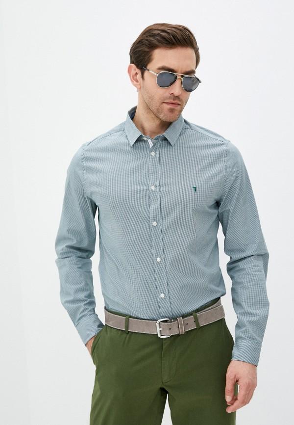 мужская рубашка с длинным рукавом trussardi, зеленая