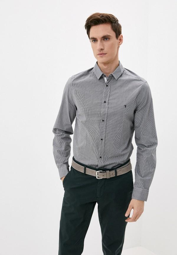 мужская рубашка с длинным рукавом trussardi, голубая