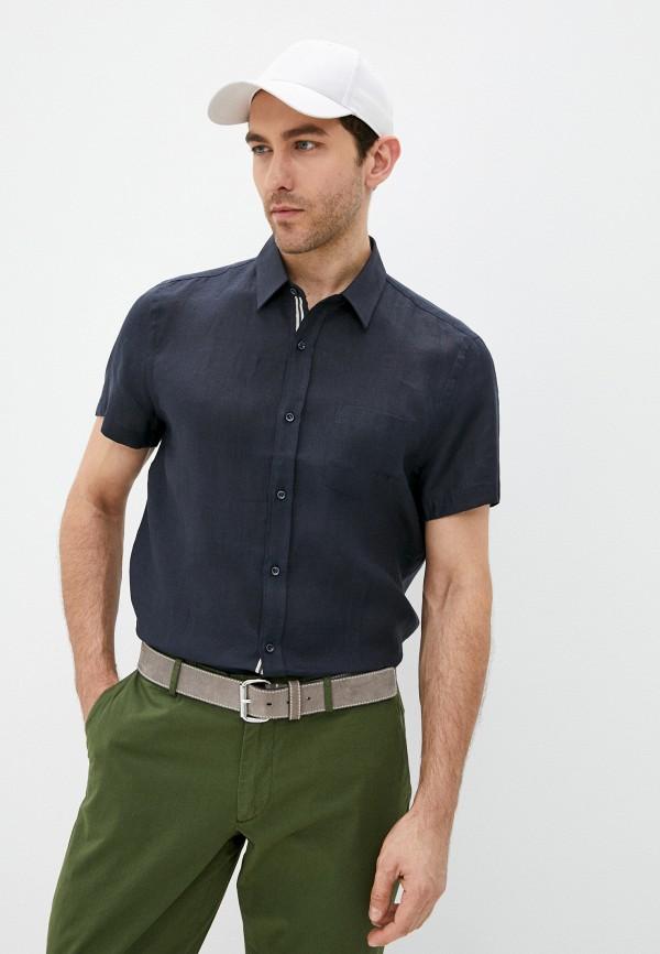 мужская рубашка с длинным рукавом trussardi, синяя