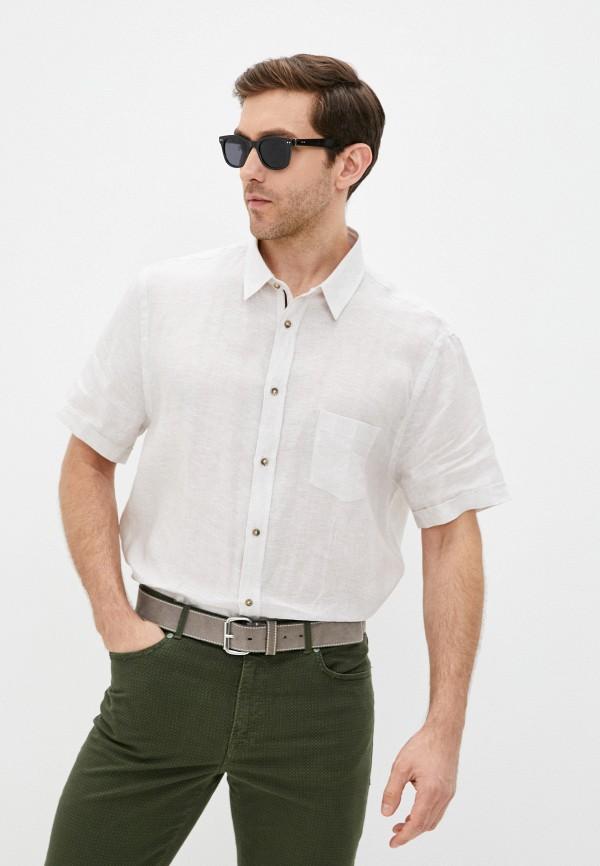 мужская рубашка с длинным рукавом trussardi, бежевая