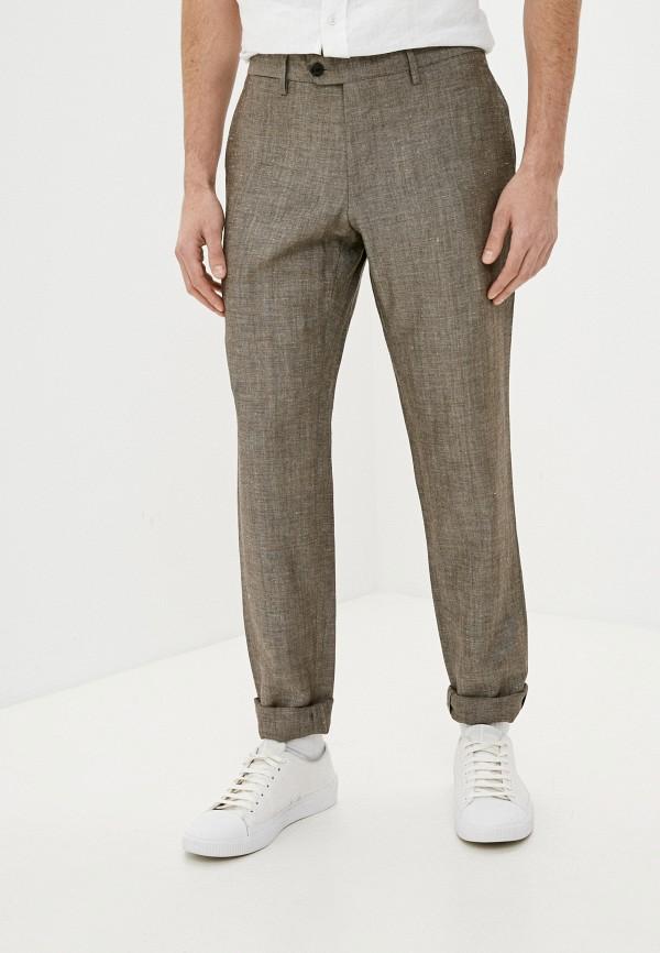 мужские повседневные брюки trussardi, коричневые