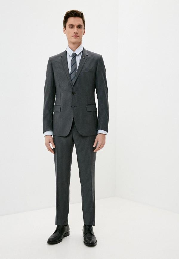 мужской классические костюм trussardi, серый