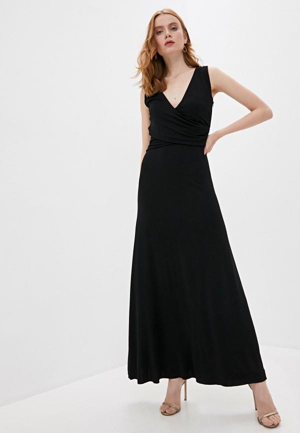 женское повседневные платье trussardi, черное