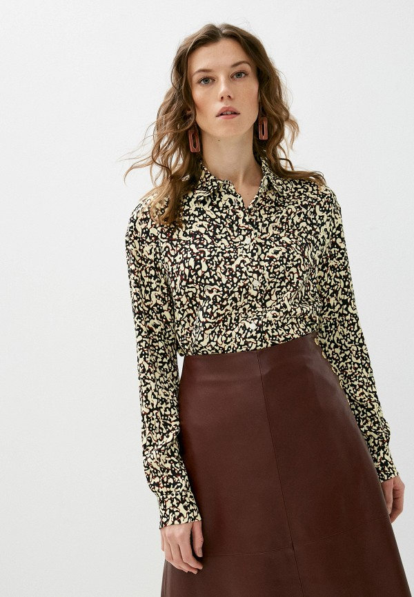 женская рубашка с длинным рукавом trussardi, разноцветная