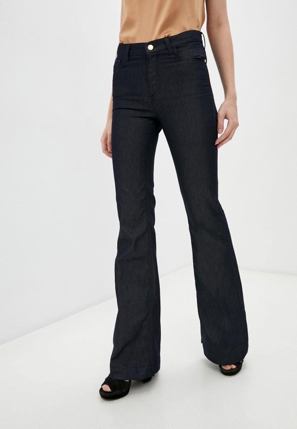 женские джинсы клеш trussardi, синие