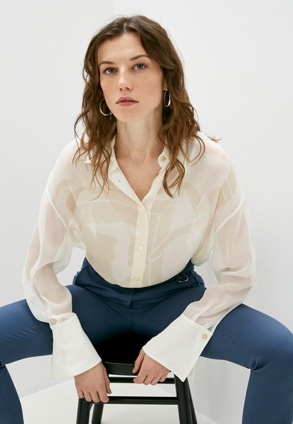 женская блузка trussardi, бежевая