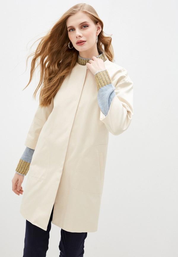 женское пальто trussardi, бежевое