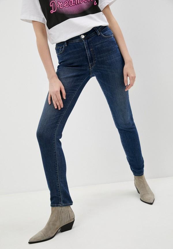 женские джинсы бойфренд trussardi, синие