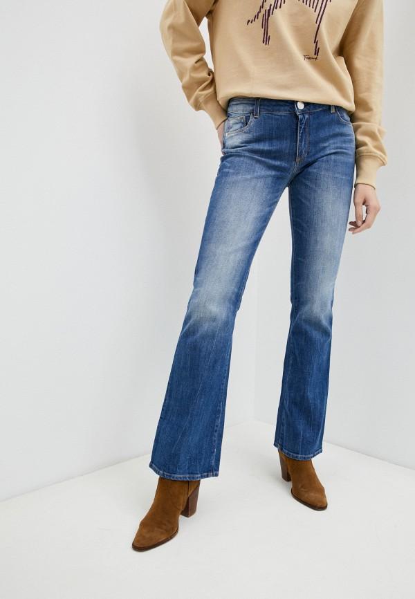 женские джинсы клеш trussardi, голубые
