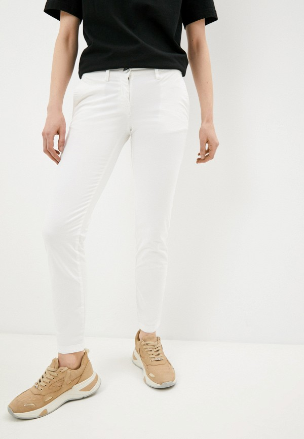 женские повседневные брюки trussardi, белые