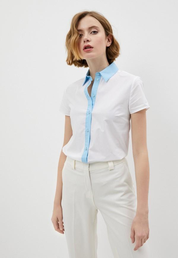женская рубашка с коротким рукавом trussardi, белая