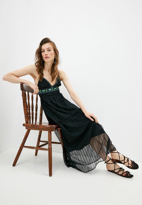 женский сарафан trussardi, черный