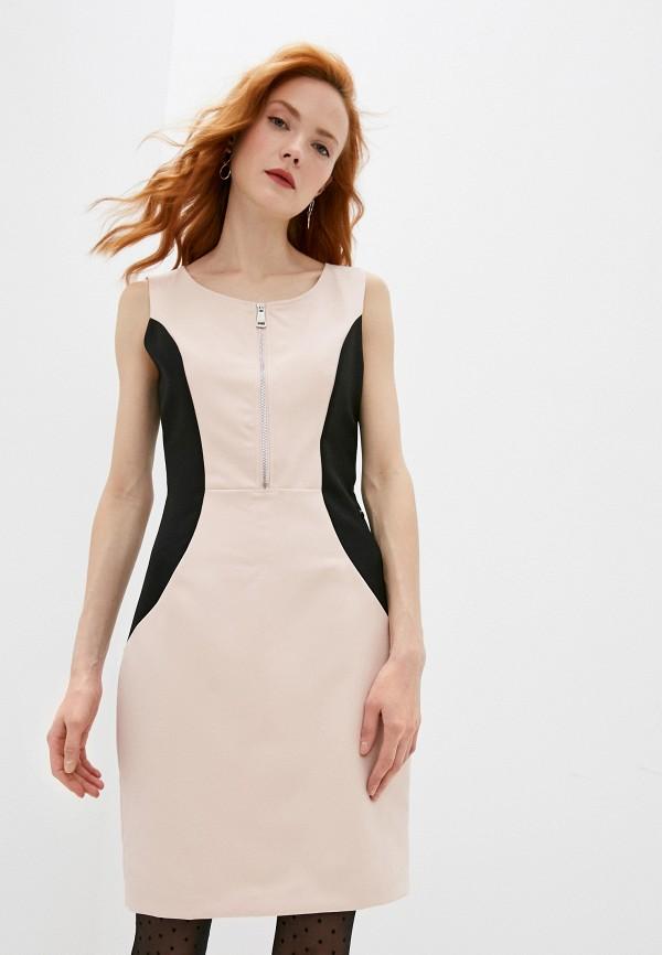 женское платье-футляр trussardi, розовое