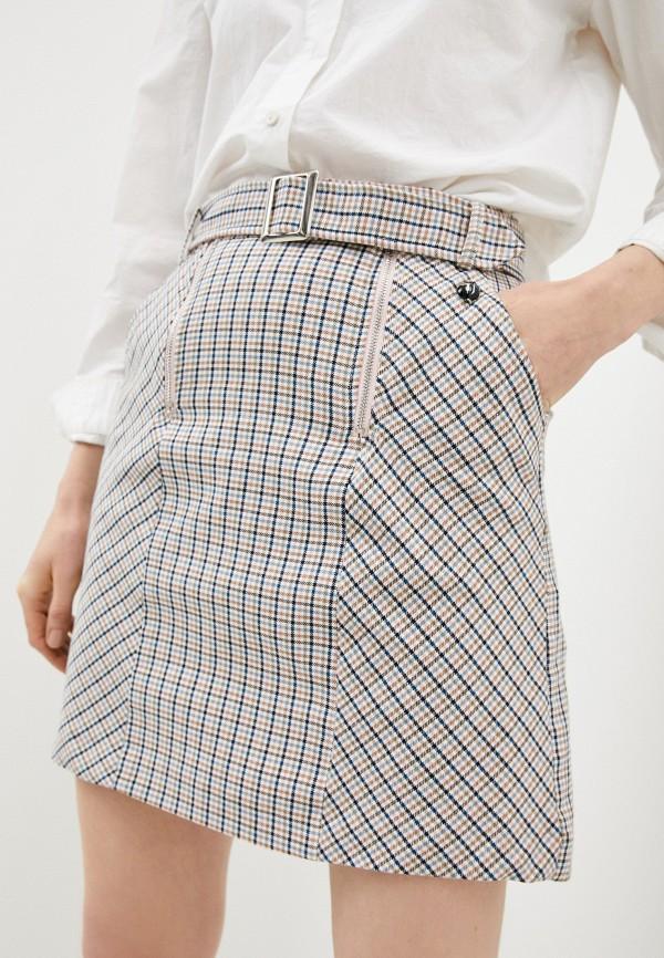 женская прямые юбка trussardi, разноцветная