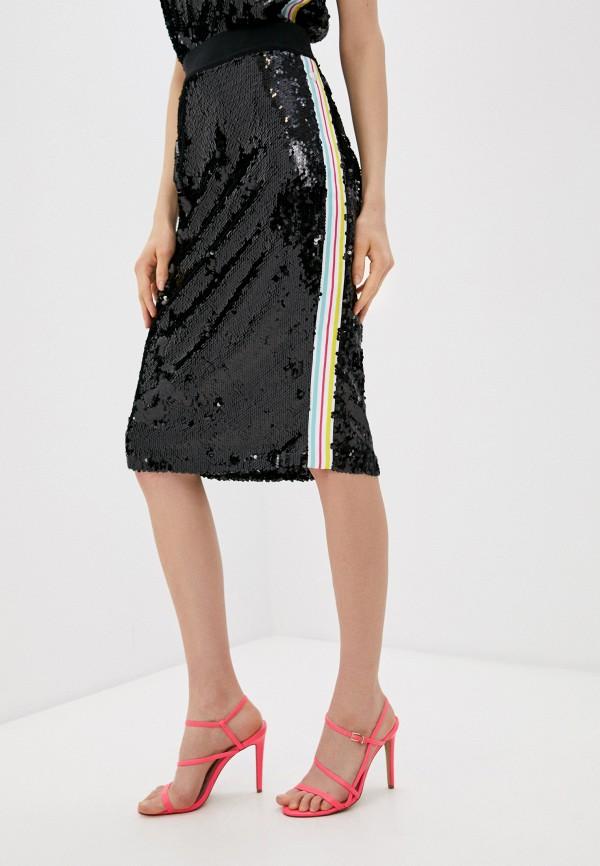 женская прямые юбка trussardi, черная