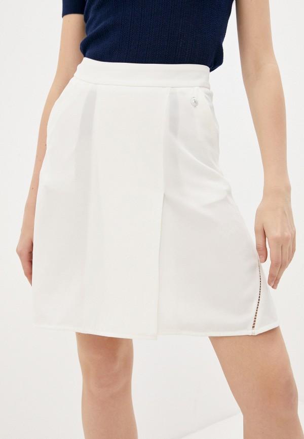 женская юбка trussardi, белая