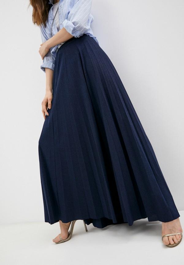 женская плиссированные юбка trussardi, синяя