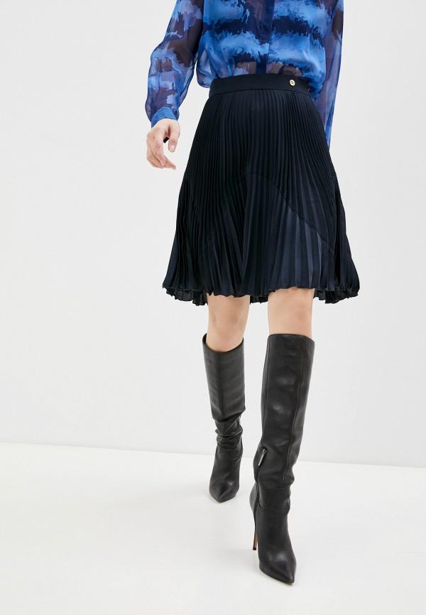 женская юбка trussardi, синяя