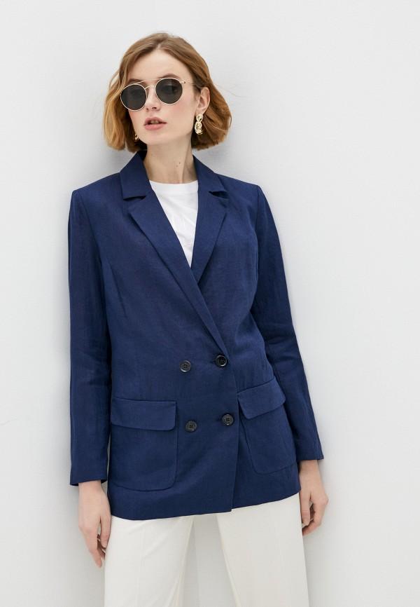 женский пиджак trussardi, синий