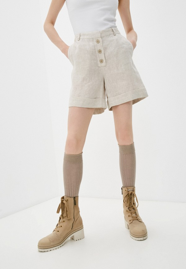 женские повседневные шорты trussardi, бежевые