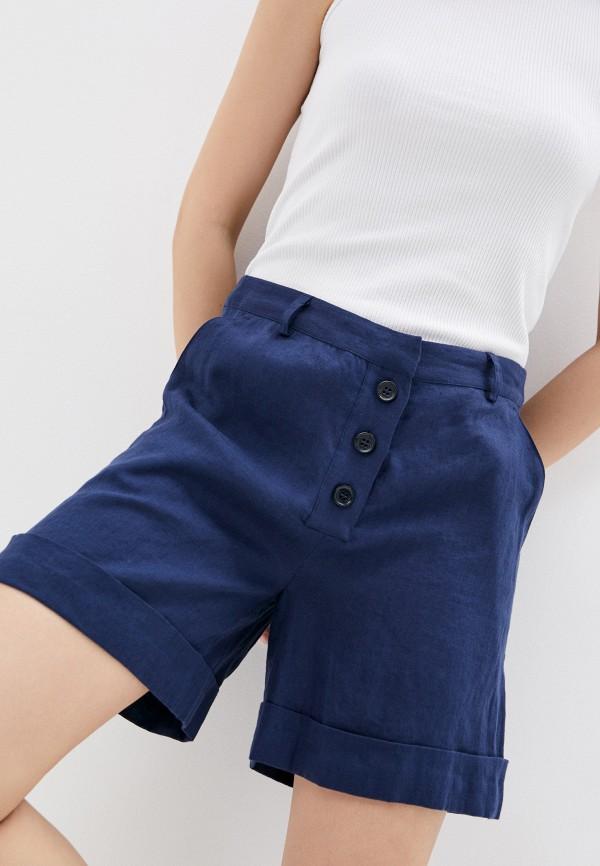 женские повседневные шорты trussardi, синие
