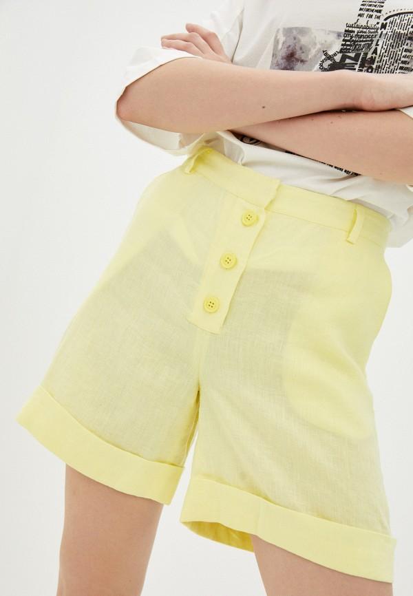 женские повседневные шорты trussardi, желтые