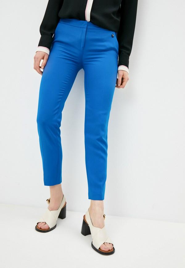 женские повседневные брюки trussardi, голубые