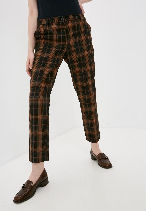 женские повседневные брюки trussardi, коричневые