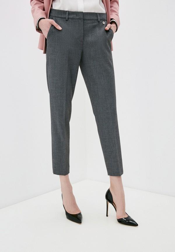 женские классические брюки trussardi, серые