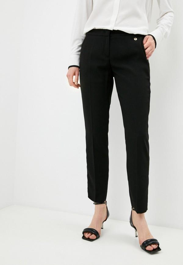 женские классические брюки trussardi, черные
