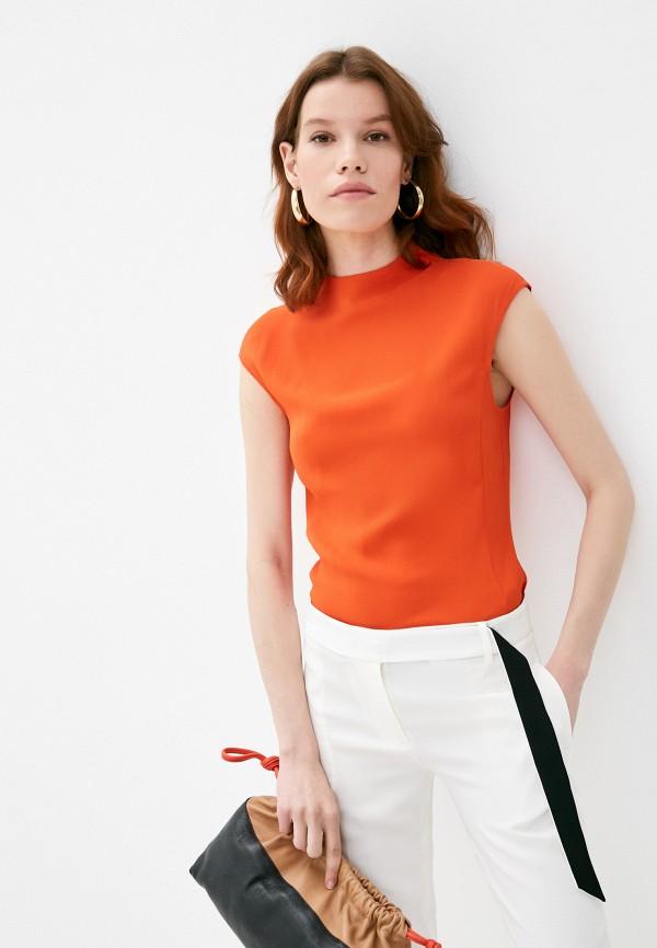 женская блузка trussardi, оранжевая