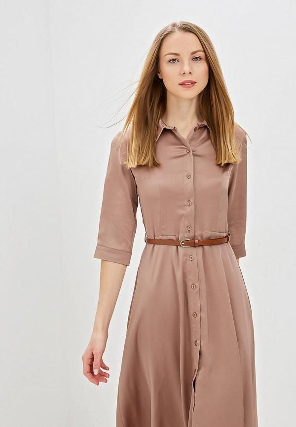Фото 2 - женское платье TrendyAngel бежевого цвета