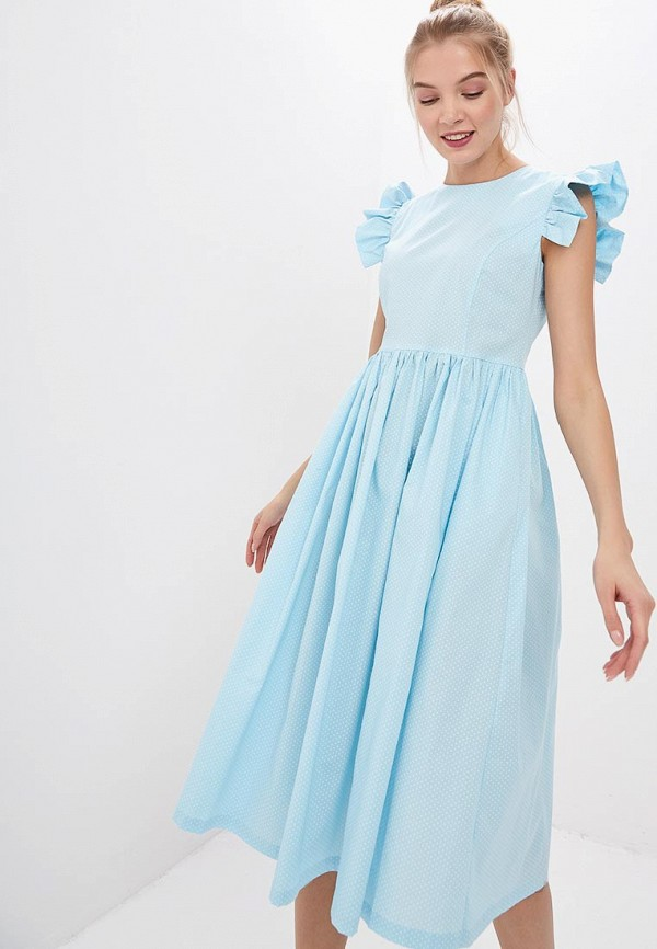 женское повседневные платье trendyangel, голубое