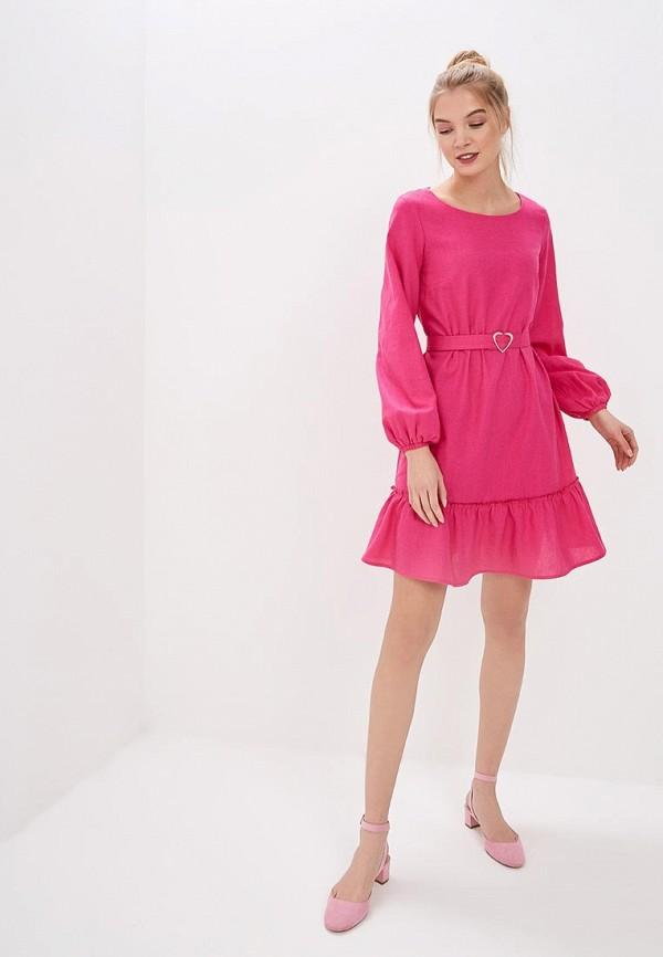 Фото 2 - женское платье TrendyAngel розового цвета