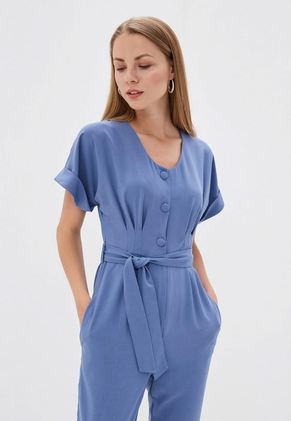 Фото 2 - женский комбинезон TrendyAngel синего цвета