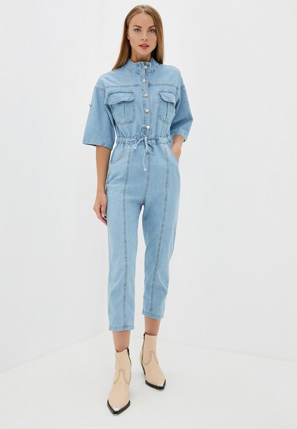 женский джинсовые комбинезон trendyangel, голубой