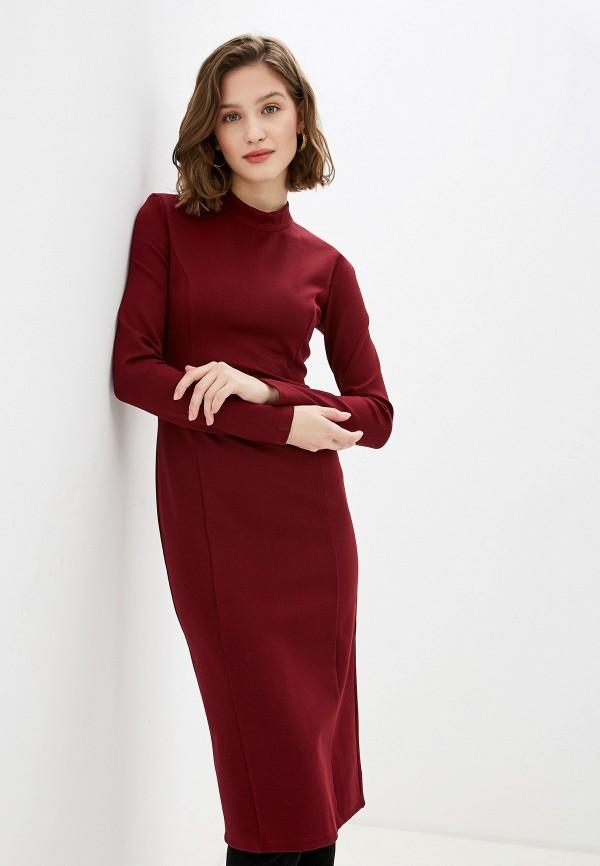 женское платье-футляр trendyangel, бордовое