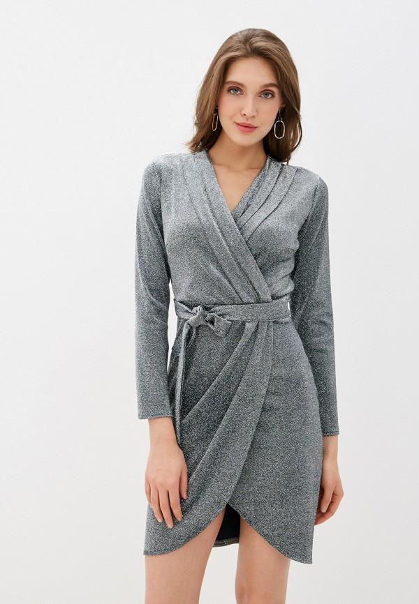 женское вечерние платье trendyangel, серебряное