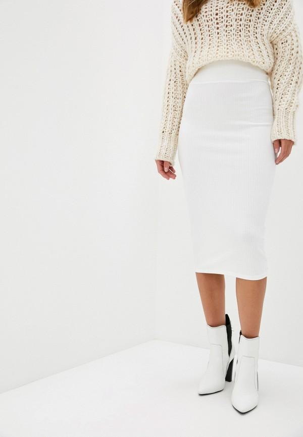 женская зауженные юбка trendyangel, белая
