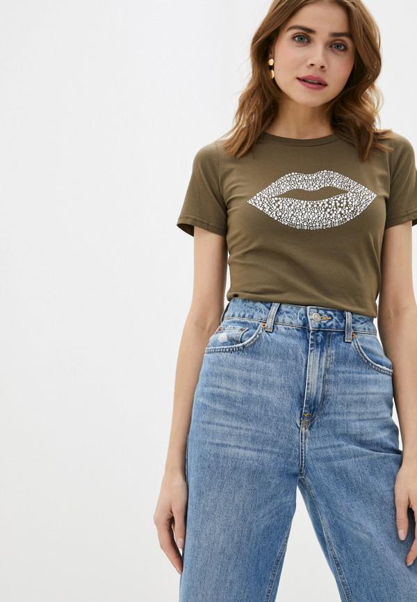 женская футболка trendyangel, хаки