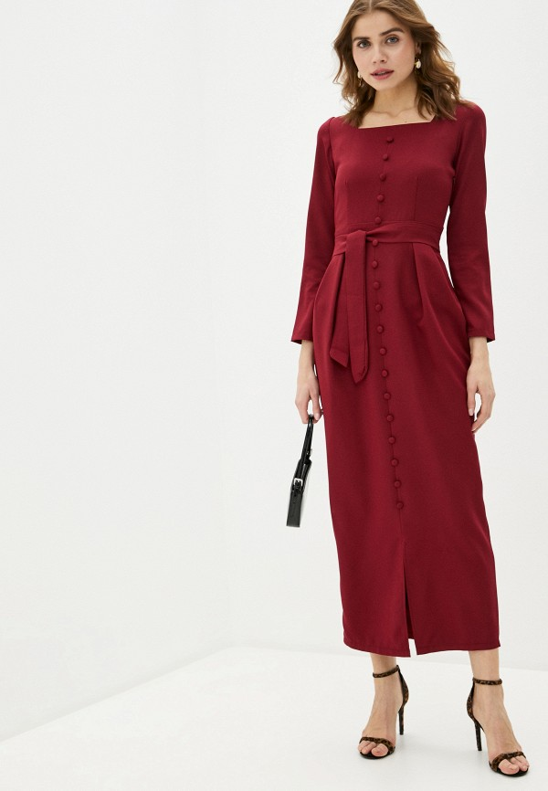 женское повседневные платье trendyangel, бордовое