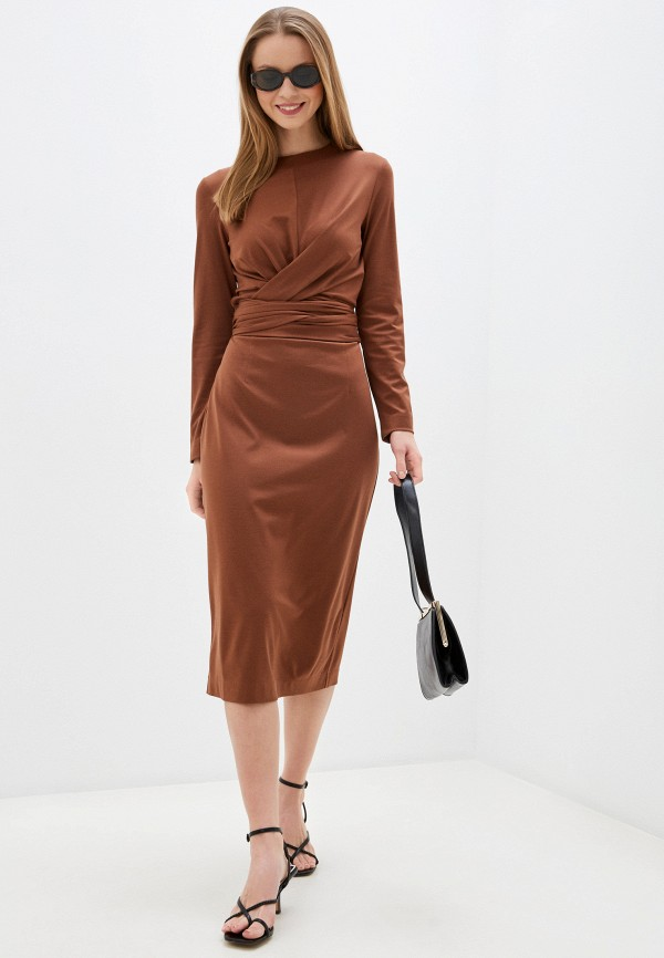 женское повседневные платье trendyangel, коричневое
