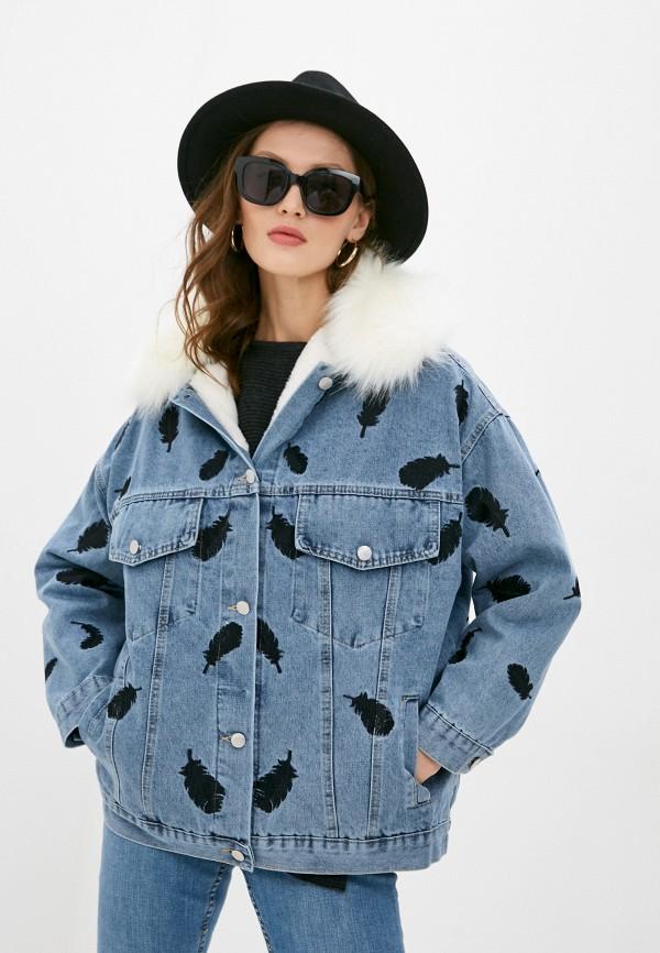 женская джинсовые куртка trendyangel, голубая